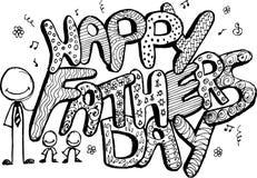 formato de texto feliz del día de padre para la tarjeta ilustración del vector