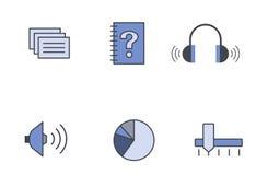 Formato del vector de los iconos Fotografía de archivo libre de regalías