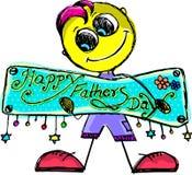Formato di testo felice di giorno del ` s del padre illustrazione di stock