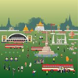 Formato do eps 10 do estilo de vida de Banguecoque Tailândia imagens de stock