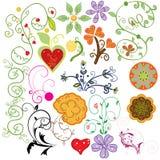 Grupo de elementos do projeto do Doodle Imagens de Stock Royalty Free