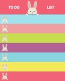 Formato do vetor do caderno do projeto Bandeira com coelhos Imagem de Stock