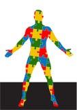 Formato do vetor do corpo humano do enigma ilustração stock