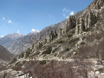 formato monticelli conici della roccia dovuto erosione Fotografia Stock Libera da Diritti