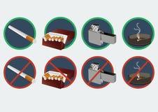 Formato não fumadores do vetor Imagens de Stock
