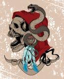 Cráneo nativo de la mujer stock de ilustración