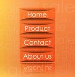 Formato transparente do vetor do elemento do Web Foto de Stock