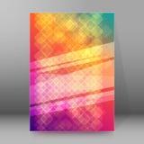 Formato vertical background12 que brilla intensamente de la plantilla de la cubierta del folleto Imágenes de archivo libres de regalías