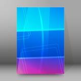 Formato vertical background26 que brilla intensamente de la plantilla de la cubierta del folleto Imagen de archivo libre de regalías