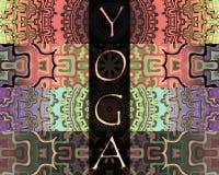 Formato verticale di logo di yoga Fotografia Stock
