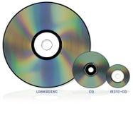 Formatos del disco óptico fotos de archivo libres de regalías