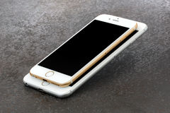 FormatskillnadiPhonen 6 och iPhone 6 plus Royaltyfri Bild