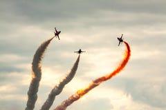 Formazione acrobatica dello show aereo Fotografie Stock Libere da Diritti