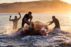 Formazione australiana delle salvavite della spuma Fotografia Stock Libera da Diritti