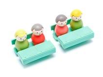 Formazione degli uomini del giocattolo Immagini Stock