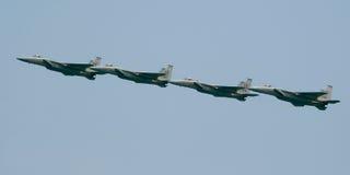 Formazione dell'aquila F-15 Fotografia Stock Libera da Diritti