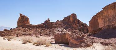 Formazione dell'arenaria al parco di Timna in Israele del sud fotografia stock