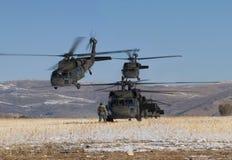 Formazione dell'elicottero Fotografie Stock
