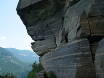 ?Formazione della presa selvaggia del gatto?, roccia NC del camino Fotografia Stock Libera da Diritti