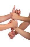 Formazione della squadra. Pugni in catena. Fotografie Stock Libere da Diritti