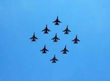 Formazione di aerei di combattimento Fotografia Stock