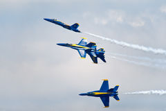 Formazione di angeli blu fotografia stock libera da diritti