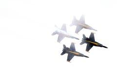 Formazione di angeli blu in nuvole Fotografia Stock Libera da Diritti