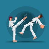 Formazione di arti marziali illustrazione vettoriale