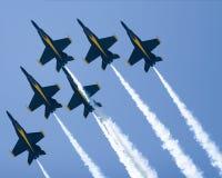 Formazione di delta di angeli blu Fotografia Stock