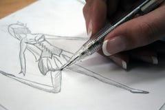 Formazione di disegno di modo Fotografia Stock