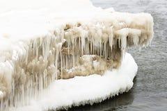 Formazione di ghiaccio Immagine Stock