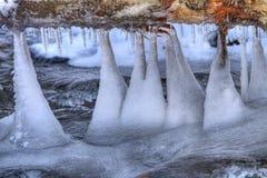 Formazione di ghiaccio Immagini Stock