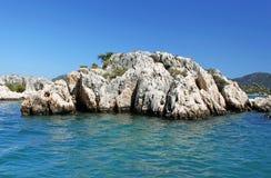 Formazione di pietra vicino all'isola di Kekova Fotografia Stock