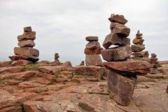 Formazione di pila della pietra della roccia del granito Fotografia Stock Libera da Diritti