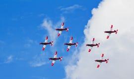 Formazione di Pilatus PC7 Fotografia Stock Libera da Diritti