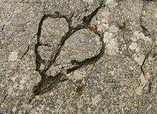 Formazione a forma di del cuore sulla roccia Fotografia Stock Libera da Diritti