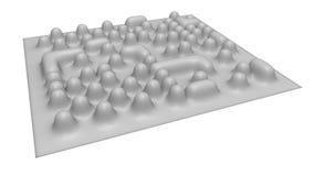 Formazione immagine elettronica del microscopio degli atomi Fotografie Stock Libere da Diritti