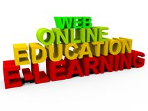 Formazione on-line Immagine Stock