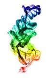 Formazione multicolore del fumo su bianco Fotografia Stock Libera da Diritti