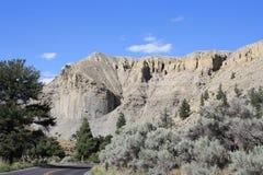 Formazione rocciosa al parco nazionale di Yellowstone fotografia stock