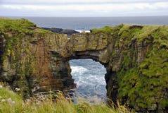 Formazione rocciosa del litorale Fotografia Stock