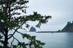 Formazione rocciosa del mare di spinta della La fotografie stock