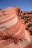 Formazione rocciosa dell'arenaria di Wave del fuoco Fotografie Stock