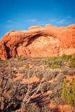 Formazione rocciosa dell'arenaria nel parco nazionale di arché Immagine Stock Libera da Diritti