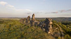 Formazione rocciosa della parete dei diavoli germany Immagine Stock Libera da Diritti