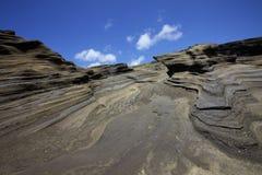 Formazione rocciosa della scogliera della linea costiera Fotografia Stock