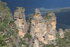 Formazione rocciosa delle tre sorelle Immagini Stock