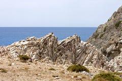 Formazione rocciosa di Agios Pavlos Fotografie Stock Libere da Diritti