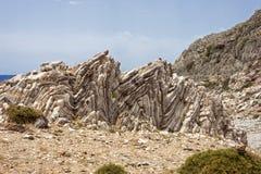 Formazione rocciosa di Agios Pavlos Immagini Stock Libere da Diritti