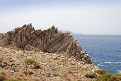 Formazione rocciosa di Agios Pavlos Fotografia Stock